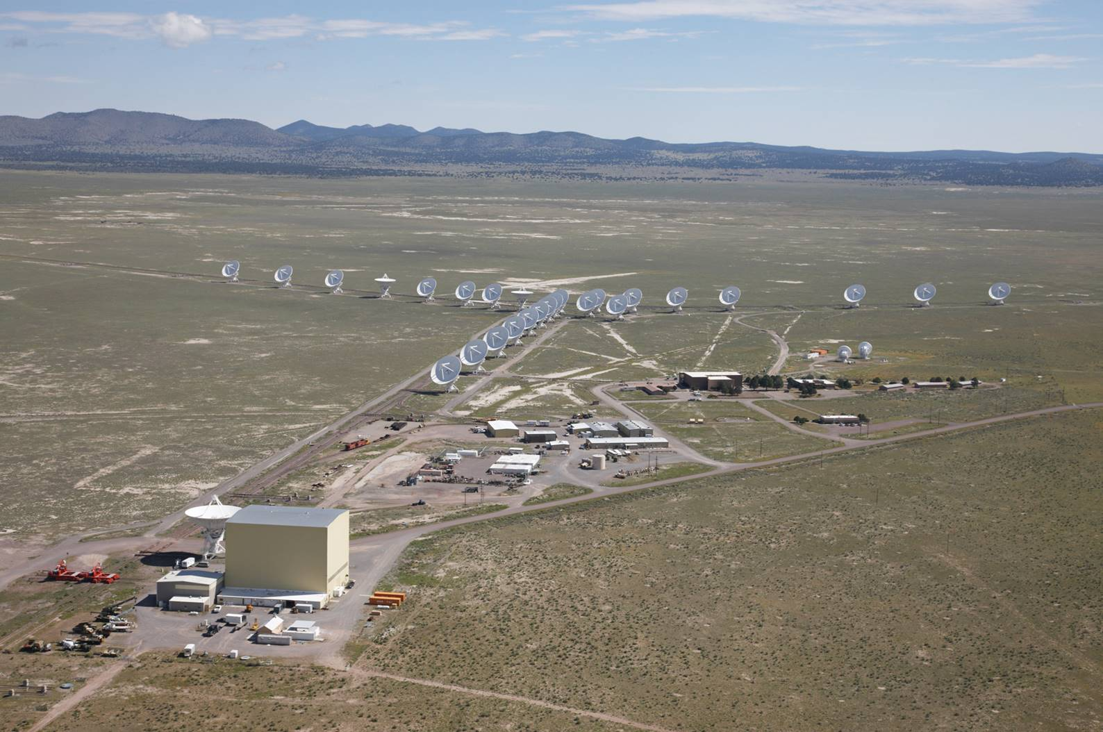 Aerial shot of the entire VLA site