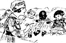 https://upload.media.orgikipedia/commons/thumb/0/0b/Drawing_by_Marguerite_Martyn_of_a_visiting_nurse_with_medicine_and_four_babies%2C_1918.jpg/220px-Drawing_by_Marguerite_Martyn_of_a_visiting_nurse_with_medicine_and_four_babies%2C_1918.jpg
